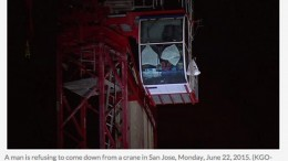 San Jose police trying to get man who climbed on top of crane to come down | abc7news.com