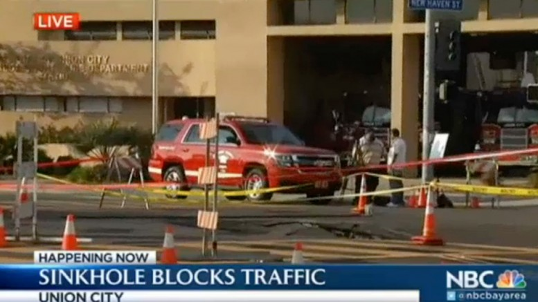 Super Size Sinkhole Grows in Union City, Force Closure of Intersection | NBC Bay Area