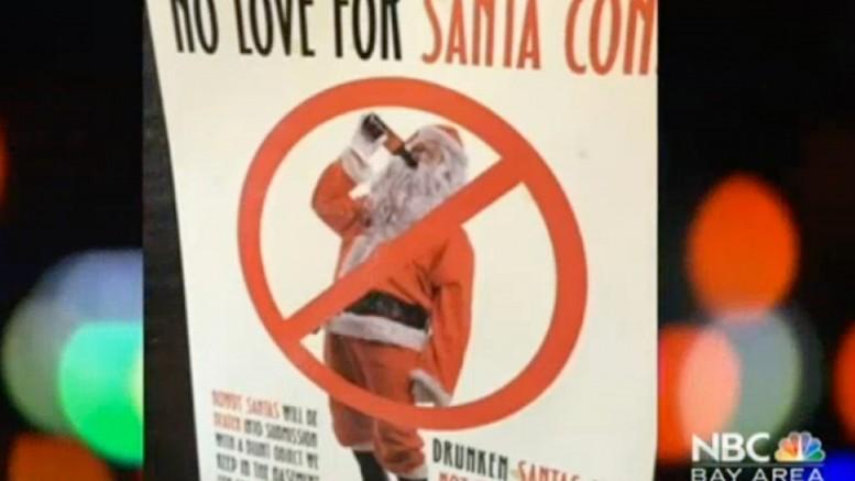 Anti-SantaCon Signs Pop Up in San Francisco Ahead of Annual Celebration   NBC Bay Area